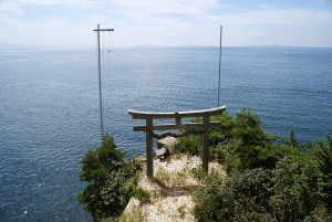 都久夫須麻神社から見た琵琶湖