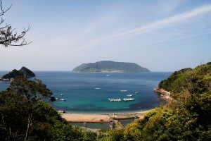 上関町田ノ浦と対岸の祝島 - 上関町