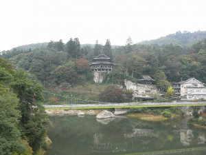 円蔵寺と只見川 - 柳津町