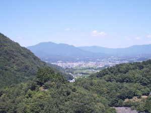 阿木川ダムからの市街の眺望 - 恵那市