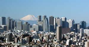 新宿の超高層ビル群と富士山 - 東京都