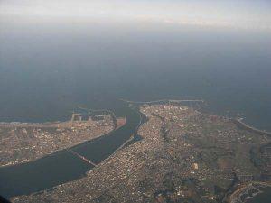 利根川河口と銚子市街地 - 銚子市