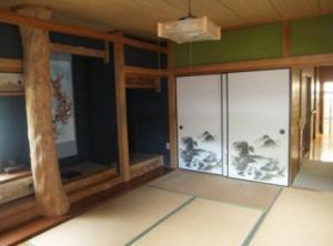 和室です。柱がいい味を出しています