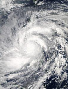 台風は大災害となる可能性があります